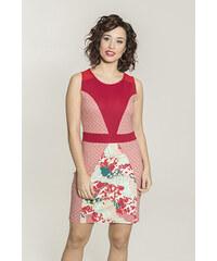 6bd636ae49a Smash PAPOILA Dámské pouzdrové šaty červené se vzorem