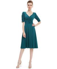 7788fcf579f Ever Pretty Tmavě zelené krátké šaty 3632