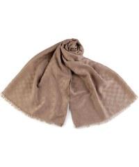 19bc4f743ea Ang-e Pánský šátek vzor kostka 180 cm hnědý