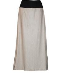 Radka Kudrnová Letní béžová dlouhá sukně dc0c861871