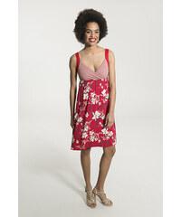 a742703e12e Smash MINNIE Dámské krátké šaty červené s květinovým vzorem