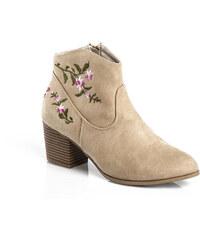 d8098170726e CAS Elegantné topánky na stĺpci A218-01-05NE. Veľkosť len EU 36. Detail  produktu. VENCA Členkové čižmy s výšivkou piesková 38