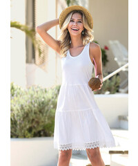 Bílé letní šaty bez ramínek - Glami.cz 12aa01f1b1