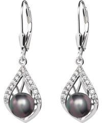 Stříbrné náušnice Touch of Luxury s černou říční perlou Preciosa 2892e1781e6