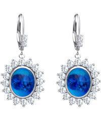 744155cd4 Stříbrné náušnice Camellia s českým křišťálem a kubickou zirkonií Preciosa  - modré