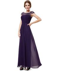 c35768584ce0 Ever Pretty plesové šaty s krajkou fialové 9993