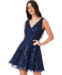 b99bd83c638 CITYGODDESS Společenské šaty Tassel modré