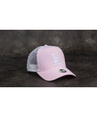 ba60bcbc3b5 New Era 9Forty Women MLB Oxford Aframe Los Angeles Dodgers Trucker Pastel  Pink