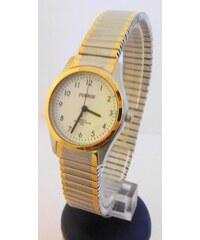 884c25a21 Dámské zlacené ocelové hodinky Foibos 7285.5 s natahovacím páskem BICOLOR