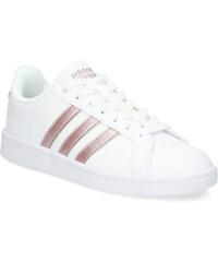 Adidas Bílé tenisky s rose gold detaily 4b3c61aa88