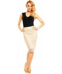 Dámská krajkovaná sukně krémová Mayaadi Deluxe 319 7004a43d36