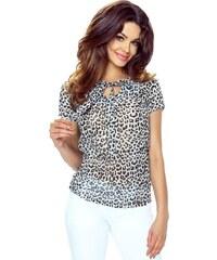 c1a840503f2 Bergamo Vzorovaná béžová košile Ilona