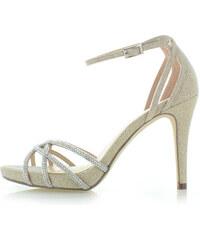 54e2dc143c06 Zlaté Dámske sandále na podpätku