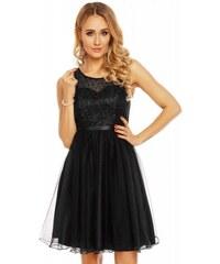 Dámské společenské šaty bez rukávů CATHERINE černé Charm s Paris 9082 c6a0b9985d