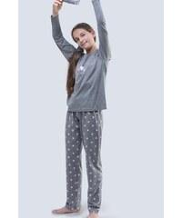 5ad85ee24e04 GINA dětské pyžamo dlouhé dívčí 19059P - šedá cukrová