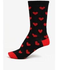 Černé dámské ponožky s motivem srdcí ZOOT 53038689a9