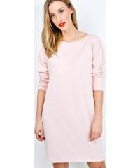 BASIC Klasické růžové šaty nad kolena - 2593 70605ad92b