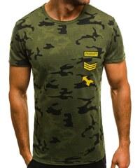 3125e044c28 Army zelené pánské tričko OZONEE JS SS331