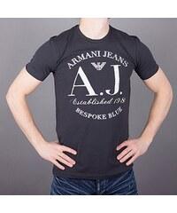 b184e5f33f67 Armani Jeans Značkové tričko AJ modré velké logo XS