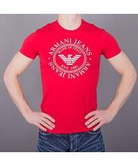 9b0873281942 Armani Jeans Pánské červené tričko Armani XS
