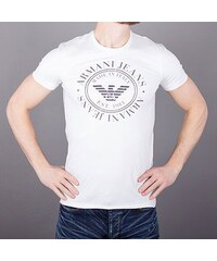 7c1434a9c252 Armani Jeans Značkové pánské tričko Armani kulaté logo XS