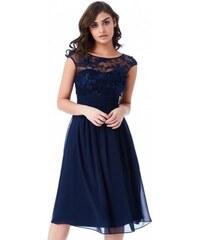 Krásné plesové a společenské šaty Molly tmavě modré GODDIVA DR1358 8bfa646d61