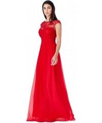 Plesové a společenské šaty Luren červené GODDIVA DR1043 f2bc7d8a1f