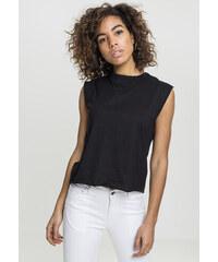 e21508170b82 Dámske čierne tielko Urban Classics Ladies Jersey Lace Up Top