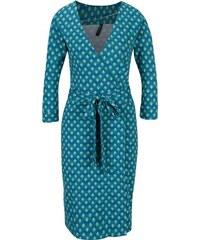 Tyrkysové vzorované zavinovacie šaty s 3 4 rukávom Tranquillo Viride 3c0fab1c48d
