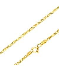 01b23c915 Šperky eshop - Retiazka zo žltého 14K zlata - malé očká, článok s mriežkou,