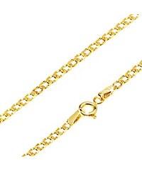 ebf6b38f8 Šperky eshop - Lesklá zlatá retiazka 585 - oválne očká zdobené drobnými  jamkami, 500 mm