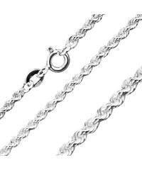 5c1dfeb7c Šperky eshop - Retiazka zo striebra 925, špirálovo spájané očká, 2,2 mm