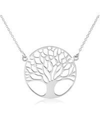 41fb3a0b6 Šperky eshop - Stříbrný náhrdelník 925, jemný řetízek, strom života SP21.29