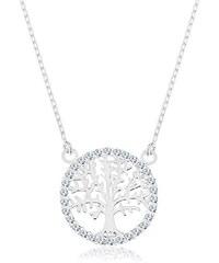 1d60ec113 Šperky eshop - Náhrdelník ze stříbra 925, přívěsek - strom života se  zirkonovým lemem R45