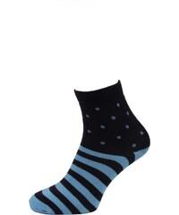 Quentino Tmavě modré pánské ponožky s modrými pruhy a puntíky d4fb6c5c8a