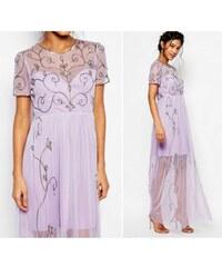 BOOHOO Dlouhé šifonové šaty vintage 9edafdbd4e
