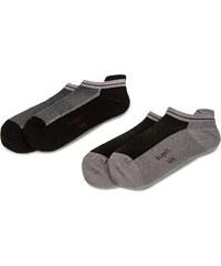 Sada 2 párů nízkých ponožek unisex BUGATTI - 6871 Flex Black 610 7d9cff0a0a
