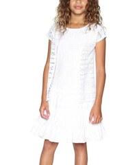 ff36b1fa2b1c Biele Dievčenské šaty - Glami.sk