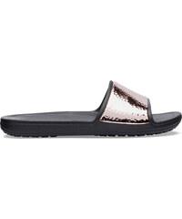 Crocs Sloane Hammered Met Slide W Black Rose Gold W5 - vel.34 dec5b764fa