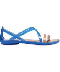 7310907c5726 Dámské sandále Crocs ISABELLA Huarache modrá zlatá - Glami.cz