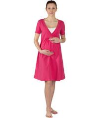 Těhotenská a kojící noční košile Rialto GLOYL tmavě růžová 0269 781996f61e
