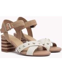 7922fa7438 Tommy Hilfiger kožené sandály na podpatku Mid Heel Sandal Star Studs - 40