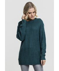 ab83330ad0ae Dámsky sveter Urban Classics Ladies Basic Crew Sweater teal