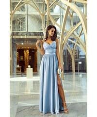 5a1ef835864 Světle modrá šaty s krajkou