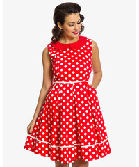 e4702b9534f LINDY BOP Dámské retro šaty Molly Sue červené