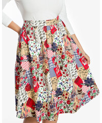 LINDY BOP Dámská retro sukně Pryia Patchwork 100a7ee865