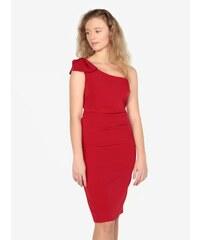 5a8c5404c1df Strikingstyle Sexi púzdrové šaty s tylom   červené - Glami.sk