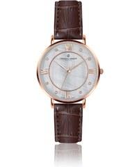 7e455c0d7a Dámske hodinky s hnedým remienkom z pravej kože Frederic Graff Rose Liskamm  Croco Brown Leather