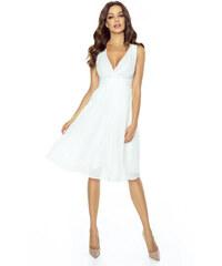 KARTES Dámské šaty Večernice DeLuxe bílé 74bbba3c92