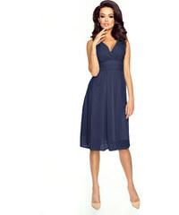 89ece3682be KARTES Dámské šaty Večernice DeLuxe tmavě modré